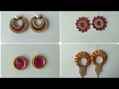 Earrings Collection. Daily Wear. DIY. Home Made Tutorial