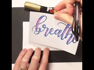 Fauxligraphy How-to: calligraphy basics