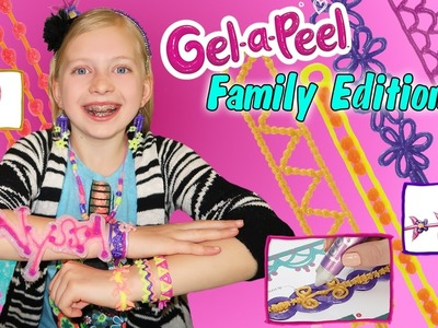 Gel-A-Peel DIY Craft Time || 3D Sparkle Bead Design Station, Making Earrings & Jewelry out of GEL!