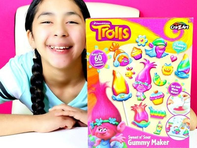 GUMMY CANDY DIY Trolls Sweet n Sour Gummy Maker | B2cutecupcakes