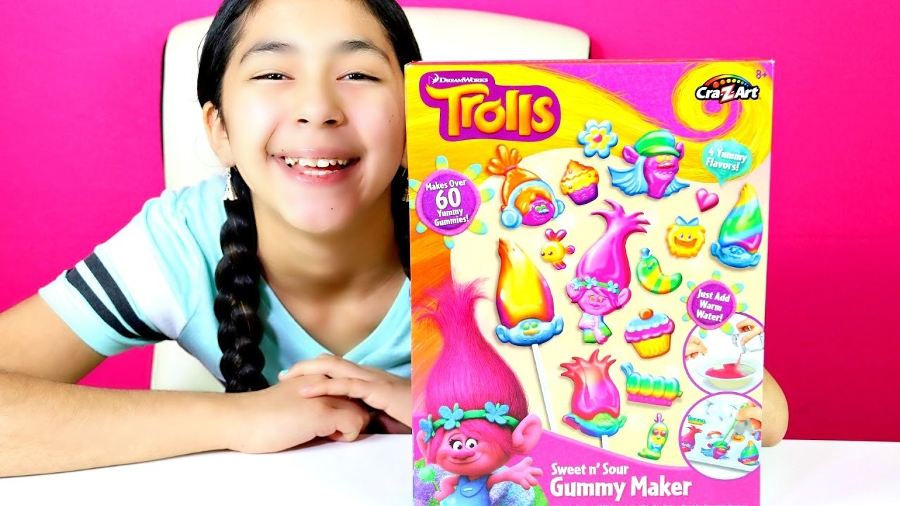 GUMMY CANDY DIY Trolls Sweet n Sour Gummy Maker | B2cutecupcakes