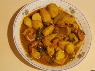 How to Cook Kochu   Taro Root Recipe