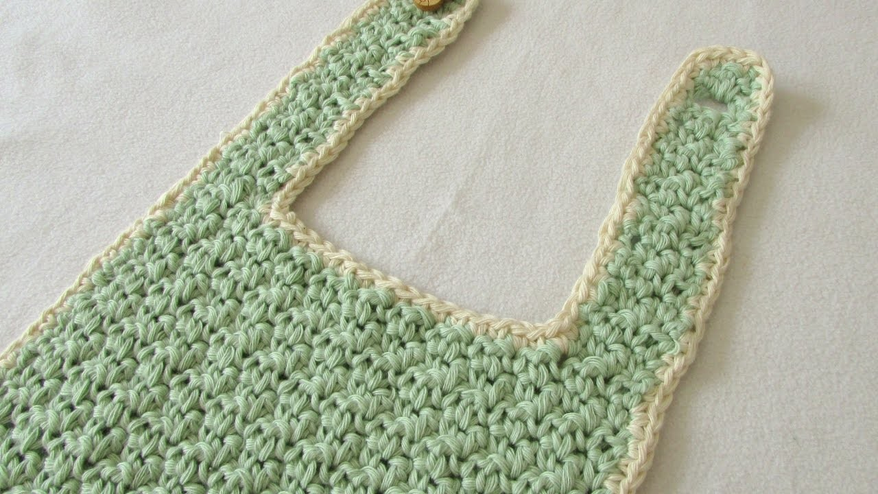 How to crochet a cute baby bib for beginners