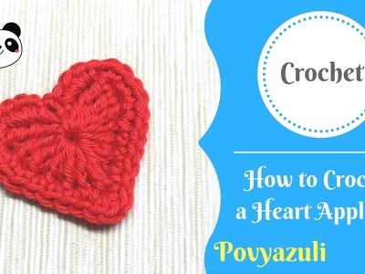 How to Crochet a Heart Applique ❤