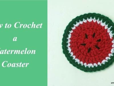 How to Crochet a Watermelon Coaster