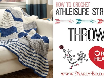 How to Crochet the Athleisure Striping Throw