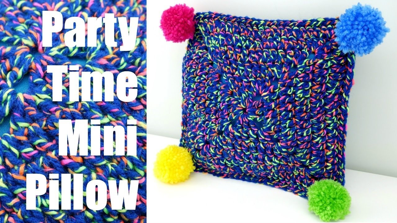 How To Crochet the Party Time Mini Pillow, Episode 393