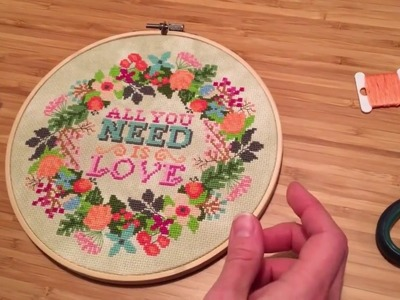 How to Finish your Needlework in an Embroidery Hoop
