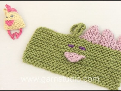How to knit the Easter chicken in DROPS Extra 0-1021