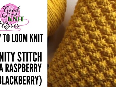 How to Loom Knit the Trinity Stitch and Pebble Pop Knit Pillow (loom knit raspberry stitch)