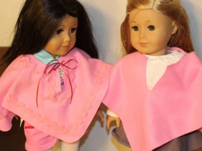 """How to Make a Doll Poncho for 18"""""""" Doll"""