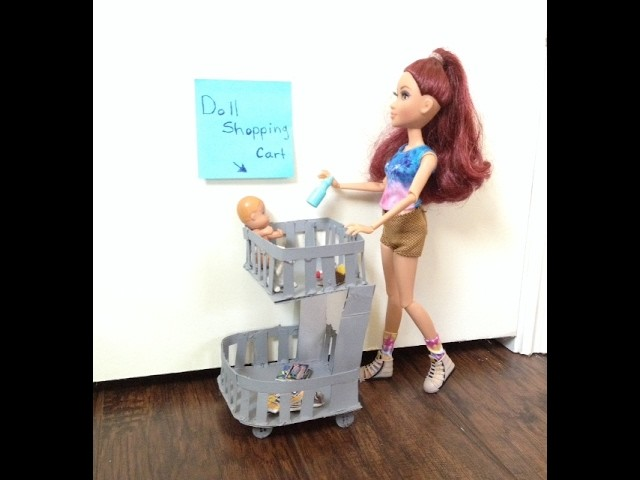 How to make a doll shopping cart