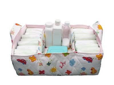 How to make a fabric diaper caddy - #65