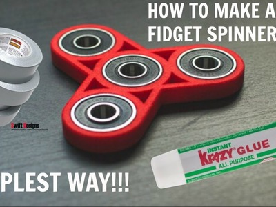 HOW TO MAKE A FIDGET SPINNER!!