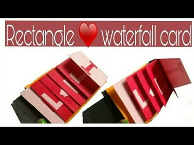 How to make a rectangle waterfall card \ step by step process\ love card|