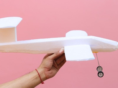 How to Make a Rubber Band Plane Out of Styrofoam - Very EASY
