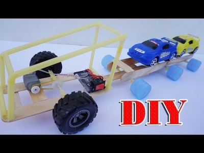 How To Make An Electric Toy Transport Car DIY - Electric Truck Very Easy