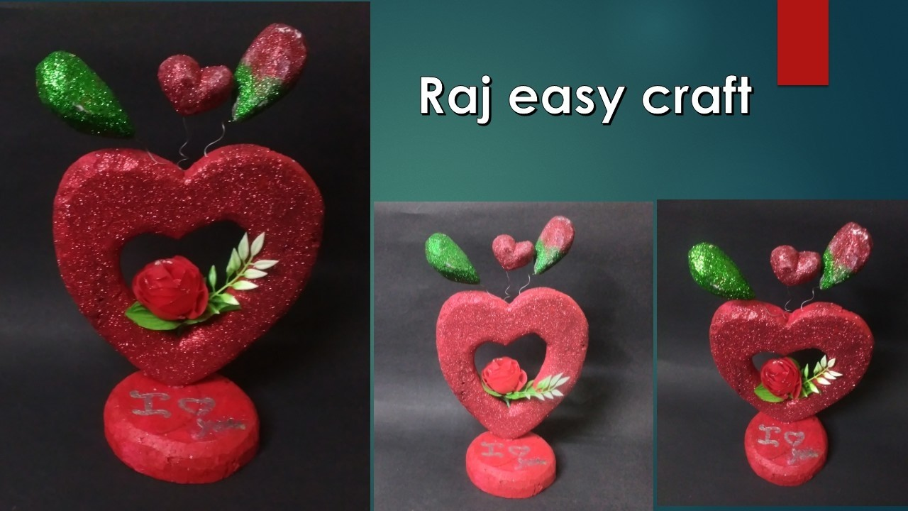 How to make best loves heart gift-valentine's day special crafts.raj easy craft