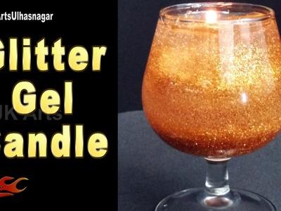 How to make Glitter Gel Candles  | JK Arts 1170