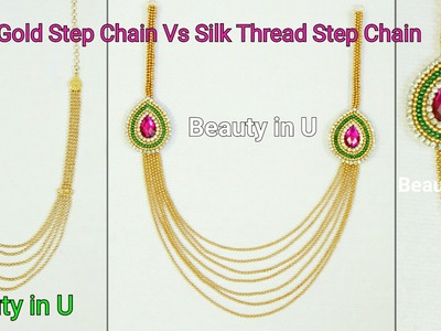 How to make Paper.Silk Thread Bridal Step Chain at Home | Tutorial