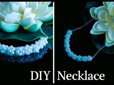 How to make pearl necklace | DIY easy and quick pearl necklace | jewelry making