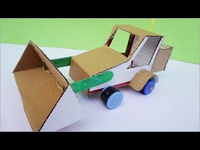 How To Make Powered Bulduzer DIY Very Easy - Electric Car For Toy