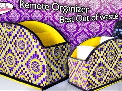 How to make remote holder | Remote organizer | Best out of waste | DIY | Artkala 127