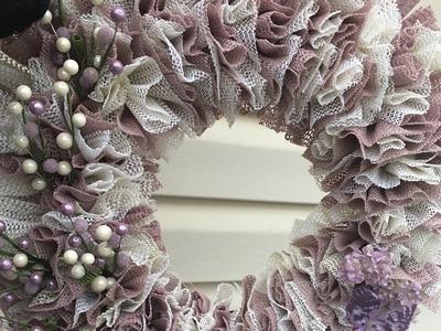 How to Make: Shelf Liner Wreath