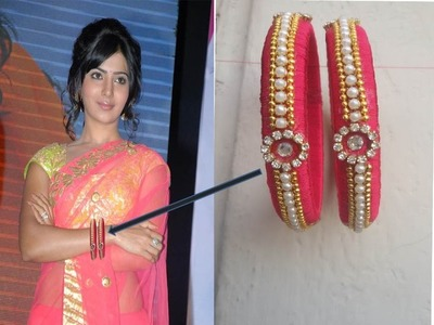 How to make silk thread bangles at home ! SAMANNTHA FASHION BANGLES ! DIY crafts ! telugu