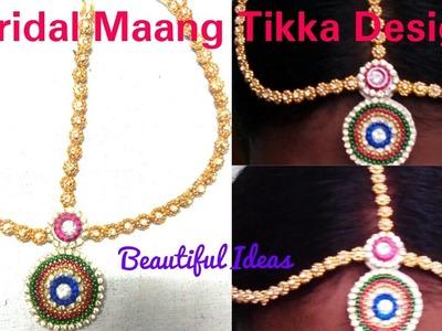 How to make silk thread Bridal Maang Tikka Latest Design at home