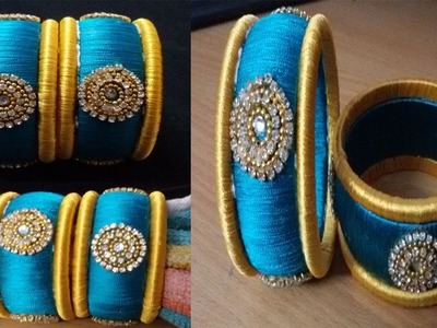 How to make simple & beautiful silk thread bangles ! making silk thread bangles ! tutorial