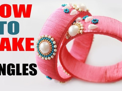 How to Make Thread Bangles Sunrise Model | Sirithreadworks | Zooltv