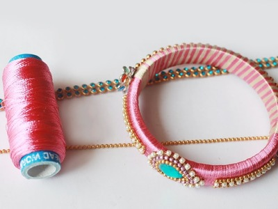 How to Make Thread Bangles party wear Model very easy tutorial   zooltv