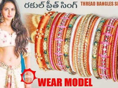 How to Make Thread Bangles Rakul preeth singh wear model at Home Easy  | Zooltv