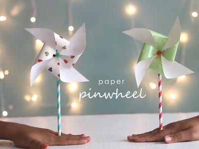 How to Paper Craft Pinwheel DIY