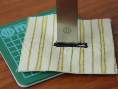How to Use the Buttonhole Cutter Set