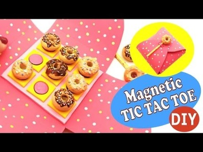 Magnetic TIC TAC TOE- DIY- Polymer clay. EVA Foam tutorial