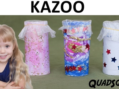 Make a Kazoo - Kids Craft Project - Craft Time with Ashley