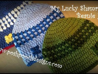 My Lucky Shamrock Beanie Hat Crochet Pattern