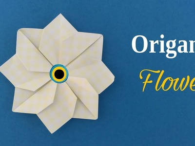 ORIGAMI FLOWER - Tutorial by Paper Folds - DIY