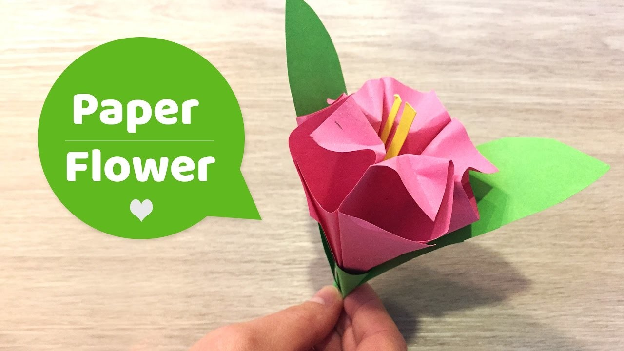 Paper Flower Simple Craft For Kids