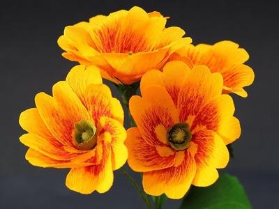 Paper Flowers - DIY Primrose Crepe Paper Flower