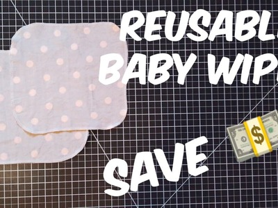 Sew with me | How To Make Reusable Baby Cloth Wipes
