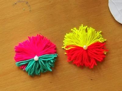 Simple Woolen Art  - How to make a woolen flower