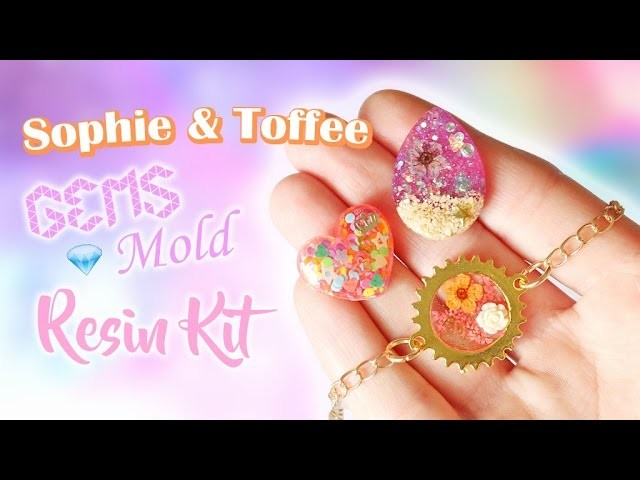 Sophie & Toffee Gems Mold Resin Kit│Watch Me Craft