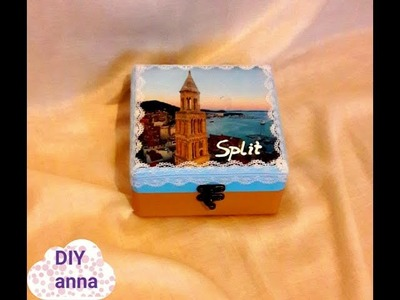 Split, Croatia decoupage photo transfer on wooden box DIY ideas decorations craft tutorial
