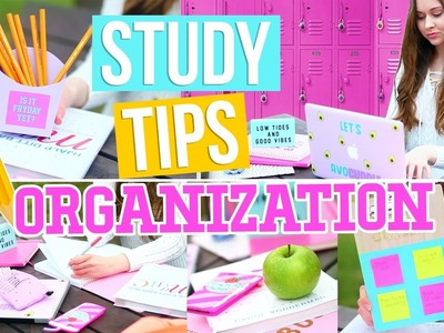 Study Tips & DIY Organization For School! Easy Ways To Get An A