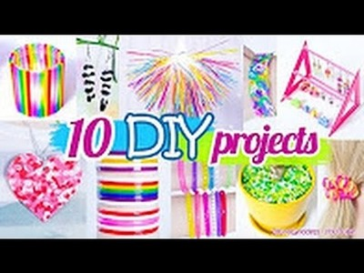 10 DIY Projects With Drinking Straws  10 New Amazing Drinking Straw Crafts and Life Hacks