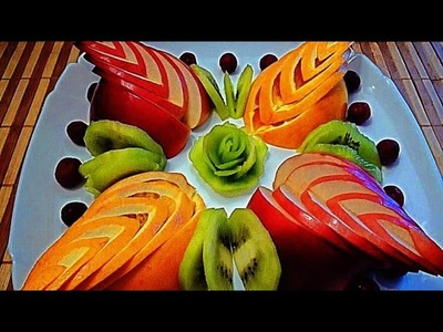 5 LIFE HACKS HOW TO CUT FRUIT - APPLE  ORANGE DESIGN &  CUTTING GARNISH   & FRUIT CARVING  ART