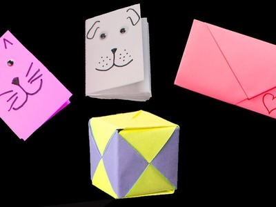 5 useful Paper Crafts ideas - 5 useful easy origami